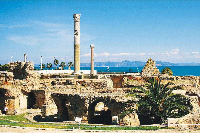 Carthage ruins roman baths